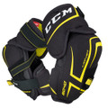 CCM Tacks 9040 Junior Elbow Pads Cap: JDP ELBOW CAP Great level of lightweight protection dispersing the force of impact away from the elbow joint. Forearm: MOLDED PE FOREARM GUARD Strategic placement of quality molded PE for excellent protection. Bicep: MOLDED PE INSERT WITH EXTENDED COVERAGE Designed for great level of protection and comfort. Attachment: STRETCH MIDDLE AND BICEP STRAP WITH WEBBING FOREARM STRAP Developed for high level comfort and fit that stays in place.