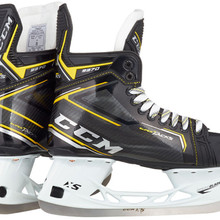 CCM Super Tacks 9370 Senior Hockey Skates  The Super Tacks 9370 hockey skates offer some of the technologies that are part of the high-end Tacks skates, but at a mid-price point. Synthetic Composite MettaFrame Tech for a superior fit HD Microfiber Liner with DuraZone Abrasion protection for protection and durability CCM Ortholite Footbed for comfort and support