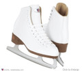 Riedell Model 875 ladies figure boots white sz 9B/A