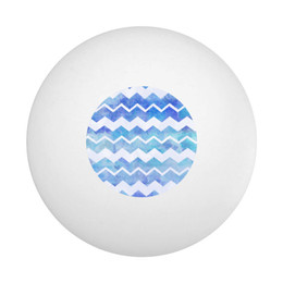 Blue Chevron Ping Pong Ball