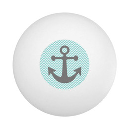 Chevron Anchor Ping Pong Ball
