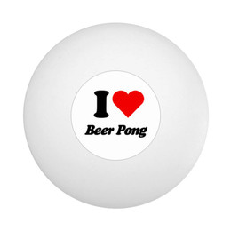 I Love Beer Pong Ping Pong Ball
