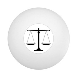 Scale of Justice Ping Pong Ball