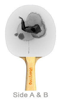 Abstract Rain Designer Ping Pong Paddle