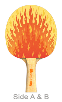 I'm on Fire Designer Ping Pong Paddle