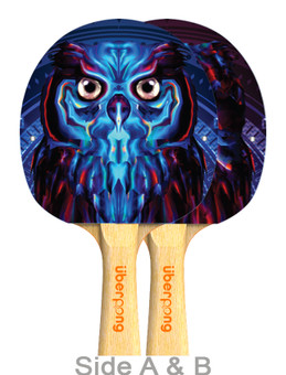 Electric Owl Design Ping Pong Paddle - Designed by Mart Biemans