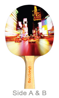 NYC Nights Designer Ping Pong Paddle