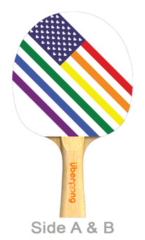 Love Wins Designer Ping Pong Paddle