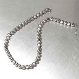 8mm Ball Necklace Sterling Silver from kellinsilver.com