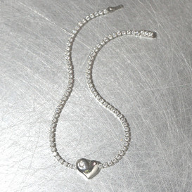 Signity Stone Heart Tennis Bracelet Sterling Silver from kellinsilver.com