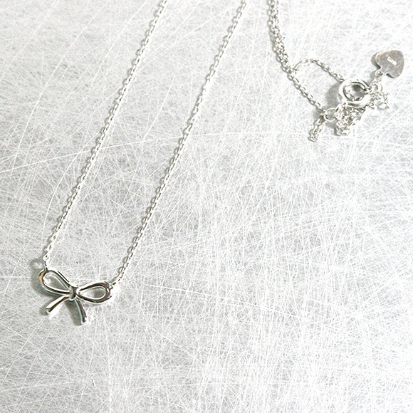 Cute Bow Necklace Sterling Silver from kellinsilver.com