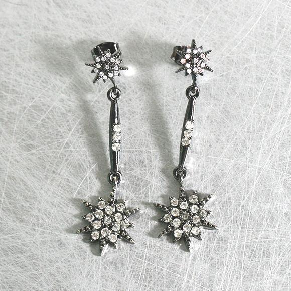 Black Galaxy Dangle Earrings from kellinsilver.com