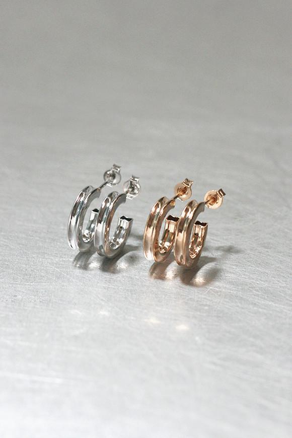 Mini Ash Hoop Earrings Sterling Silver from kellinsilver.com