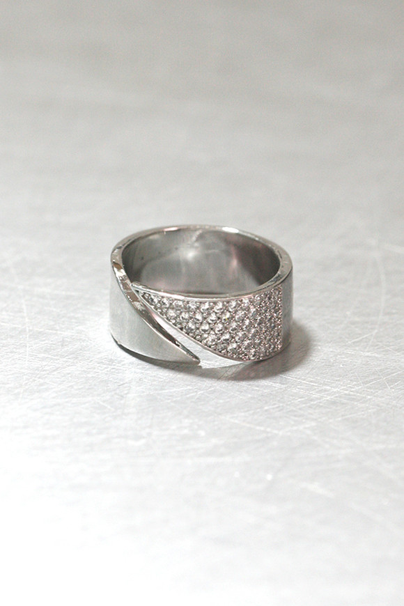 CZ Pave Pointed Ring Sterling Silver from kellinsilver.com