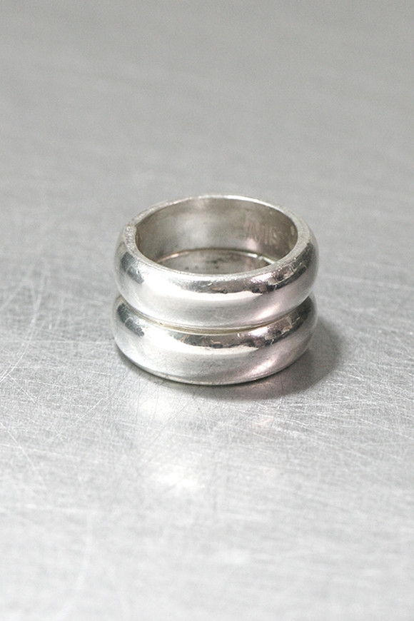 6mm Bold Round Band Ring Set Sterling Silver