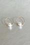 Swarovski Pearl on Circle Stud Earrings Rose Gold from kellinsilver.com