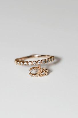 Rose Gold Horseshoe Charm Ring Sterling Silver on kellinsilver.com