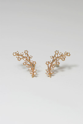 Rose Gold Olive Leaf Stud Earrings on kellinsilver.com