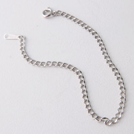 Simple Cable Chain Bracelet Sterling Silver
