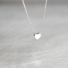 Tiny Heart Necklace Sterling Silver from kellinsilver.com