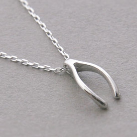Rose gold wishbone necklace sterling silver kellinsilver white gold wishbone necklace sterling silver from kellinsilver aloadofball Image collections