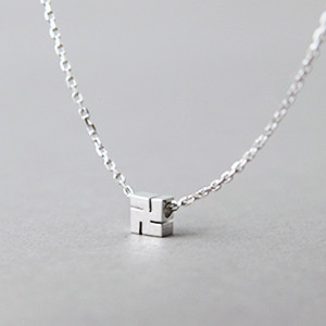 Tiny Hindu Swastika Necklace Sterling Silver