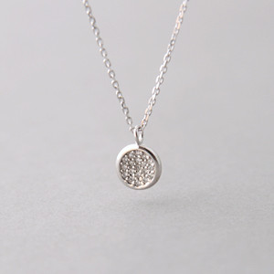 rose gold color 925 sterling silver long chain necklace