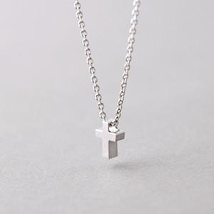 Tiny cross necklace sterling silver kellinsilver aloadofball Choice Image