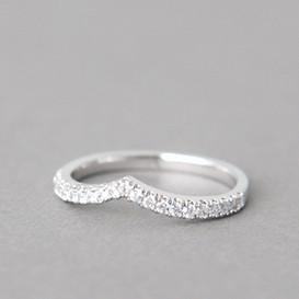 CZ Tiara V Ring White Gold from kellinsilver.com