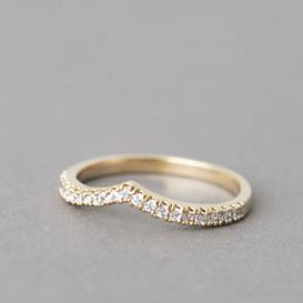 CZ Tiara V Ring Gold from kellinsilver.com