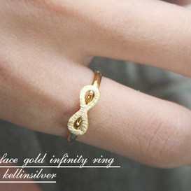 Blushed Gold Infinity Ring