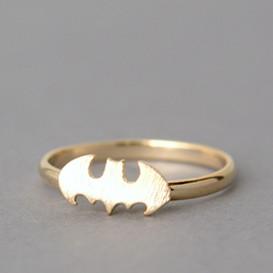 Blushed Gold Bat Ring
