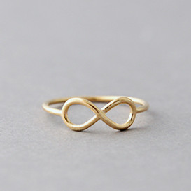 Yellow Gold Infinity Ring