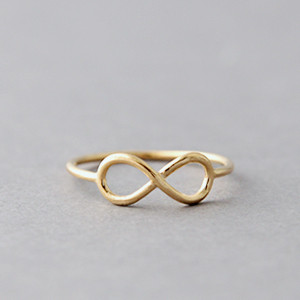 Yellow Gold Infinity Ring Kellinsilver Com