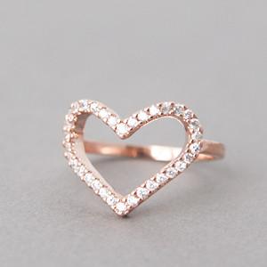 swarovski heart ring rose gold kellinsilvercom