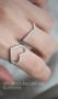 Swarovski Heart Ring White Gold from kellinsilver.com