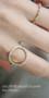 Swarovski Circle Ring Gold from kellinsilver.com