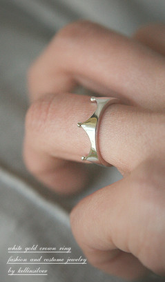 White Gold Crown Ring from kellinsilver.com