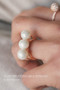 Rose Gold Three Shell Pearl Bar Ring Sterling Silver from kellinsilver.com
