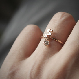 Lucky Charm Snake Ring Rose Gold