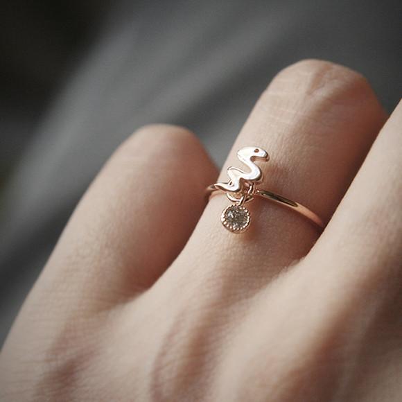 Lucky Charm Snake Ring Rose Gold Kellinsilver Com