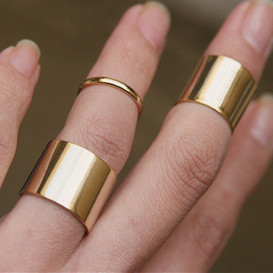 Gold Knuckle Wrap Rings Set of 3 from kellinsilver.com