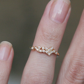 CZ Isavel Gold Above Midi Ring on kellinsilver.com