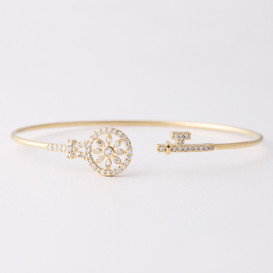 Swarovski Gold Key Cuff Bracelet from kellinsilver.com
