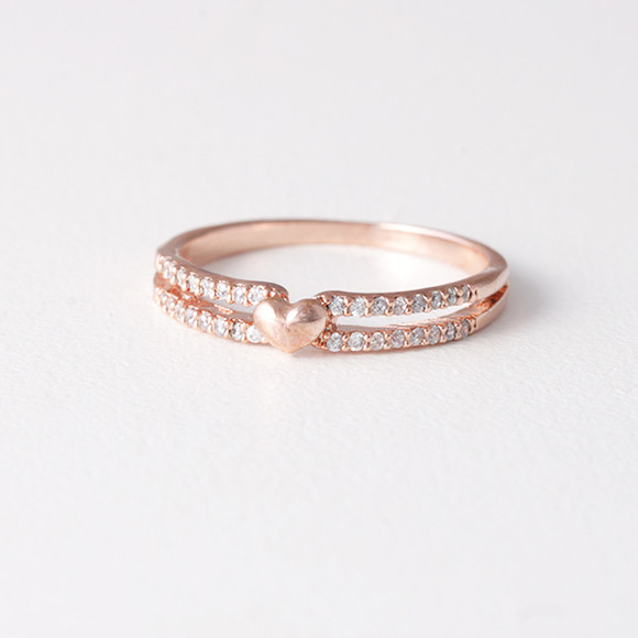 Rose Gold Valentine Heart Ring Kellinsilver Com