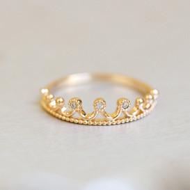 Crown Tiara Ring Rose Gold from kellinsilver.com