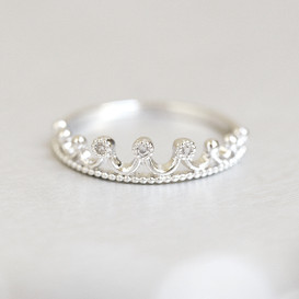 Crown Tiara Ring White Gold from kellinsilver.com