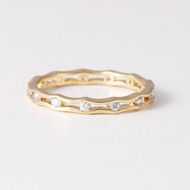 Edge Eternity Ring Gold from kellinsilver.com