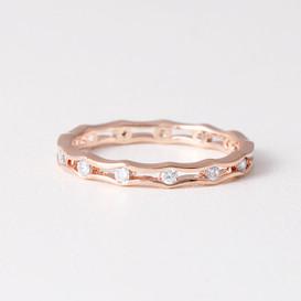 Edge Eternity Ring Rose Gold from kellinsilver.com