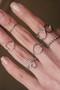 White Gold Heart Midi Ring Set of 2 from kellinsilver.com